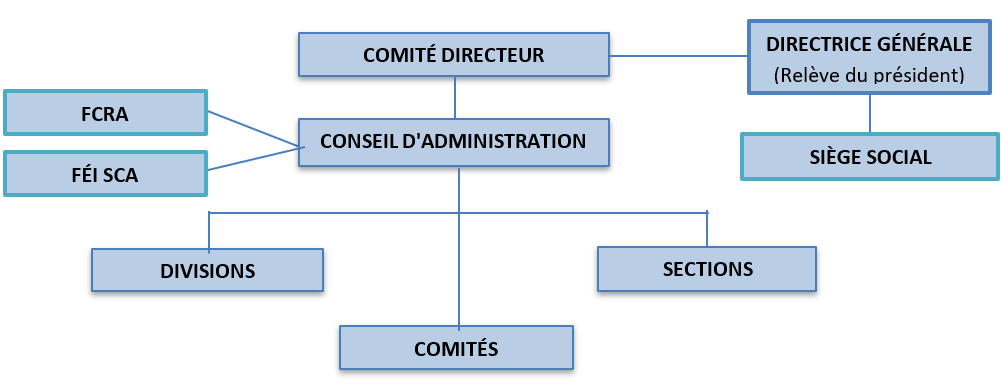 CAS organizational structure diagram