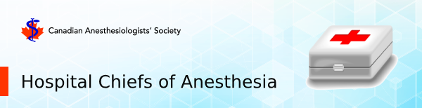 Hospital Chiefs of Anesthesia Section Banner
