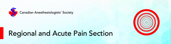 Regional and Acute Pain Section Banner
